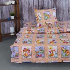 Детское постельное белье из бязи 1.5 сп 8088/3 Веселые картинки персиковый