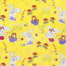 Ткань на отрез бязь ГОСТ детская 150 см 1304/5 Лесная сказка цвет желтый