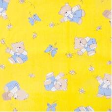 Ткань на отрез бязь ГОСТ детская 150 см 1332/4 цвет желтый