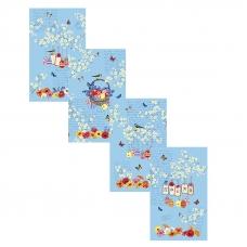 Набор вафельных полотенец 4 шт 35/60 см 30082/1 Пробуждение