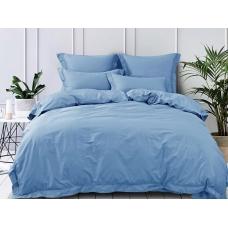 Ткань на отрез сатин гладкокрашеный 220 см 15-4020 цвет голубой