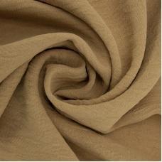 Ткань на отрез манго креп 154 см цвет горчичный