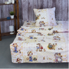 Детское постельное белье из поплина 1.5 сп 10132/1 Машенька