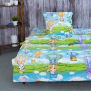 Детское постельное белье из поплина 1.5 сп 10355/1 Путешествие