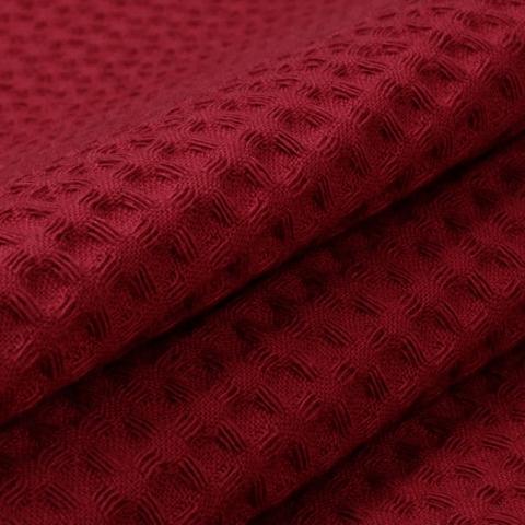Вафельное полотно гладкокрашенное 150 см 240 гр/м2 7х7 мм премиум цвет 066 бордо