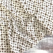 Рубашечная ткань на отрез Элиф LV-4 б/з цвет коричневый