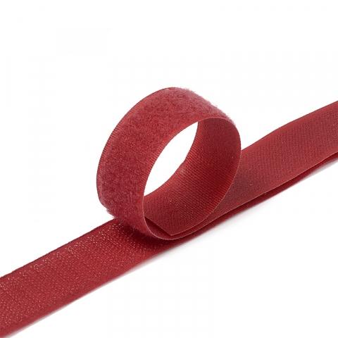 Лента-липучка 25 мм 1 м цвет F178 бордовый