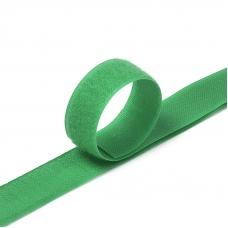 Лента-липучка 25 мм 1 м цвет F258 зеленый