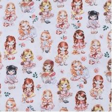 Ткань на отрез бязь премиум ГОСТ детская 150 см 13171/1 Куклы