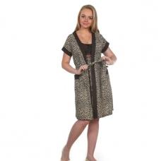 Комплект халат Кимоно и сорочка Царица леопард А20 р 44