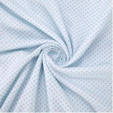 Ткань на отрез кулирка 1022-V51 Пшено на белом