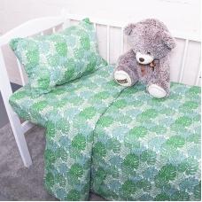 Постельное белье в детскую кроватку из поплина 2008/1 Монстера