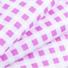 Бязь плательная 150 см Клетка 1/1см 1551/1 цвет розовый