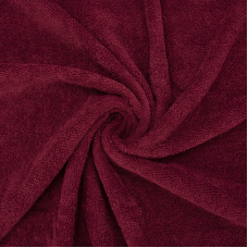 Ткань на отрез махровое полотно 150 см 390 гр/м2 цвет винный