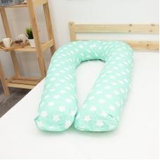 Наволочка бязь на подушку для беременных U-образная 1737/16 цвет мята