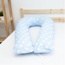 Наволочка бязь на подушку для беременных U-образная 1737/3 цвет голубой