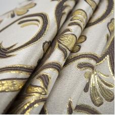 Портьерная ткань с люрексом 150 см на отрез 5222 цвет серый/золото