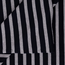 Ткань на отрез футер петля с лайкрой 21-12 Полоса цвет темно-синий