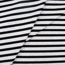 Ткань на отрез футер петля с лайкрой 33-12 Серая полоса