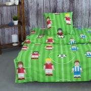 Детское постельное белье из бязи 1.5 сп 13236/1 Лего футбол