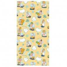 Полотенце вафельное банное 150/75 см 210/2 С легким паром цвет персиковый