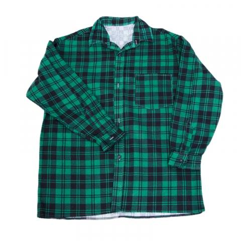 Рубашка мужская фланель клетка 48-50 цвет зеленый