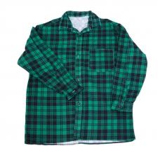 Рубашка мужская фланель клетка 60-62 цвет зеленый
