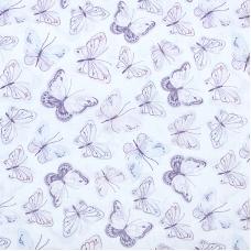 Ткань на отрез перкаль 150 см 8954/1 Бабочки