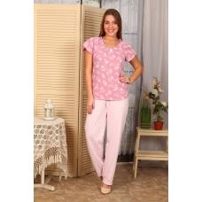 Пижама Лада Брюки Светло Розовые  Б4 п р 42