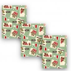Набор вафельных полотенец 3 шт 35/70 см 366-7 Шоколадный