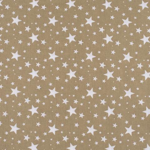 Ткань на отрез поплин 150 см 433/28 Звездочка цвет золото