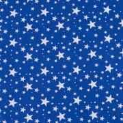 Ткань на отрез поплин 150 см 433/21 Звездочка цвет василек
