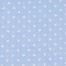 Ткань на отрез поплин 150 см 390/3 Звездочки цвет голубой