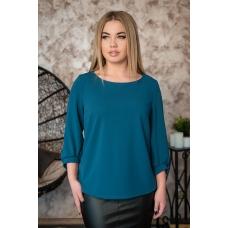 Блуза 0184-21 цвет Изумрудный р 50