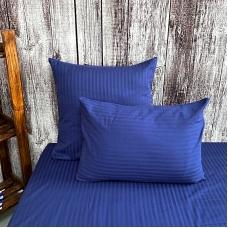 Наволочка страйп-сатин полоса 1х1 120 гр/м2 191/2 цвет синий в упаковке 2 шт 50/70