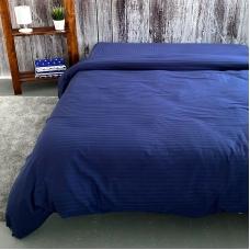 Пододеяльник страйп-сатин полоса 1х1 120 гр/м2 191/2 цвет синий 1.5 сп