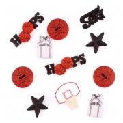 Набор декоративных элементов JESSE JAMES 0421 Баскетболл 1 упак