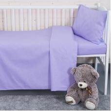 Постельное белье в детскую кроватку цвет сирень