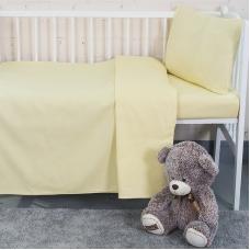 Постельное белье в детскую кроватку цвет желтый
