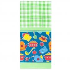 Полотенце вафельное 35/70 см Кухня цвет зеленый