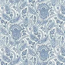 Ткань на отрез рогожка 150 см 3045-1 Персия цвет синий