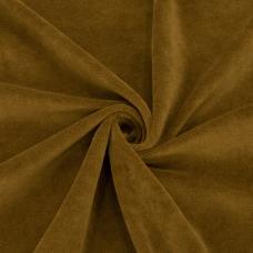 Ткань на отрез велюр цвет темно-горчичный