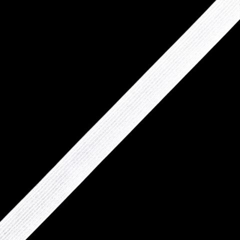 Тесьма эластичная белая 8 мм уп 10 м