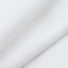 Ткань на отрез кулирка цвет белый 02