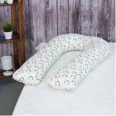 Наволочка бязь на подушку для беременных U-образная 441/1 Королевский пингвин