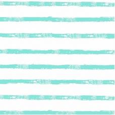 Ткань на отрез интерлок 40/1 Гребенное Яркая полоса голубая 5744-1