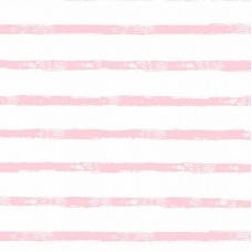 Ткань на отрез интерлок 40/1 Гребенное Яркая полоса розовая 5737-17