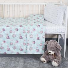 Постельное белье в детскую кроватку 13177/1+13167/1 перкаль