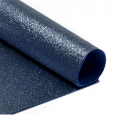 Фоамиран глиттерный Magic 4 Hobby 2 мм арт.MG.GLIT.H021 цв.темно-синий, 20х30 см