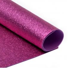 Фоамиран глиттерный Magic 4 Hobby 2 мм арт.MG.GLIT.H033 цв.ярко-розовый, 20х30 см